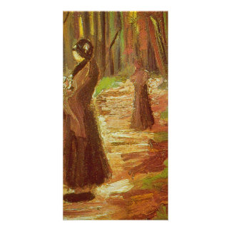 Two Women by Vincent van Gogh Custom Photo Card