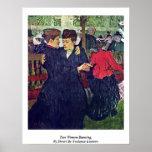 Two Women Dancing, By Henri De Toulouse-Lautrec Posters
