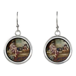 Two Women Friends in Harem Earrings