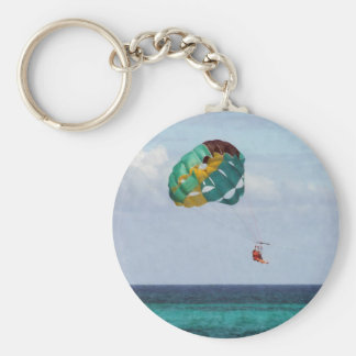 Two Women Parasailing in the Bahamas Key Ring