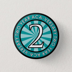Two Year Aca-Versary Collectable Pin