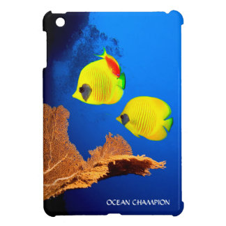 Two Yellow Butterfly Fish iPad Mini Covers