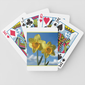 Two yellow Daffodils 2.2 Bicycle Playing Cards