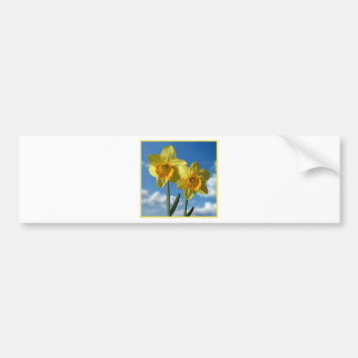 Two yellow Daffodils 2.2 Bumper Sticker