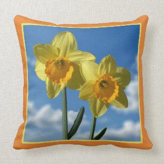Two yellow Daffodils 2.2 Cushion
