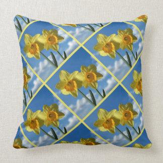 Two yellow Daffodils 2.2.P Cushion