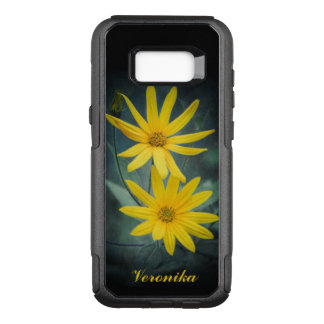 Two yellow flowers of Jerusalem artichoke OtterBox Commuter Samsung Galaxy S8+ Case