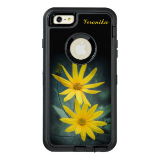 Two yellow flowers of Jerusalem artichoke OtterBox Defender iPhone Case