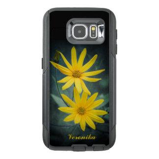 Two yellow flowers of Jerusalem artichoke OtterBox Samsung Galaxy S6 Case