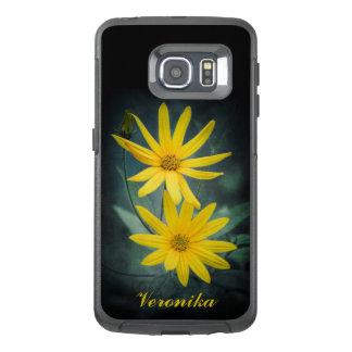 Two yellow flowers of Jerusalem artichoke OtterBox Samsung Galaxy S6 Edge Case