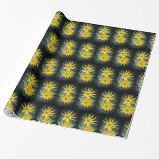 Two yellow flowers of Jerusalem artichoke. Wrapping Paper