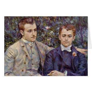 Two Young Men 1882 Card