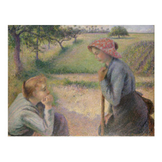 Two Young Peasant Women Postcard
