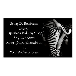 Two Zebras in Close Up View From Behind Pack Of Standard Business Cards