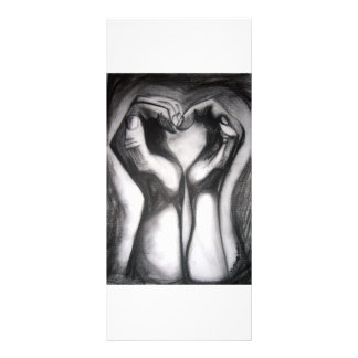 twohands - one heart 10 cm x 23 cm rack card