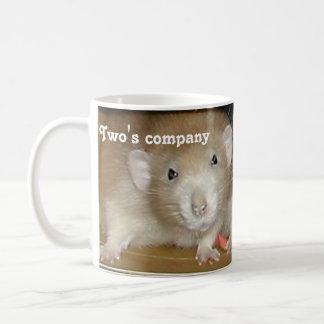 Two's company, three's a squash! coffee mug