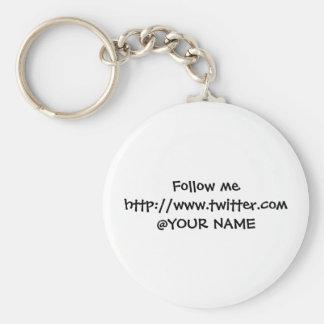 Twosse name tag key ring