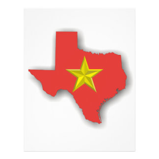 TX a Red State 21.5 Cm X 28 Cm Flyer