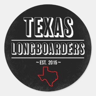 TX Longboarders - Classic Sticker