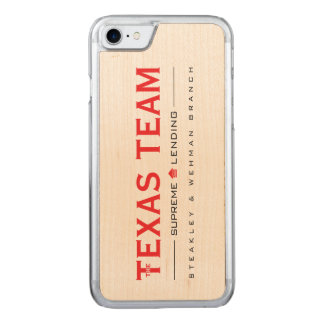 TX Team - iPhone 6/6s Slim Maple 1 Carved iPhone 8/7 Case