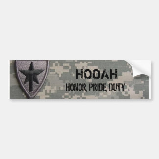 txsg  HOOAH, Honor, Pride, Duty Bumper Stickers