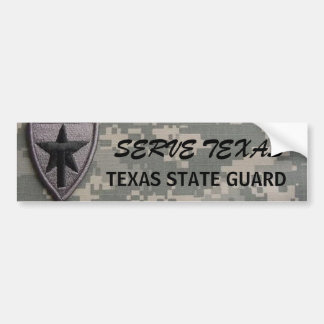 txsg patch left, SERVE TEXAS, TEXAS STATE GUARD Bumper Sticker
