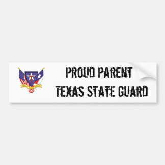 txsg proud parent texas state guard bumper sticker
