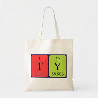 Ty periodic table name tote bag