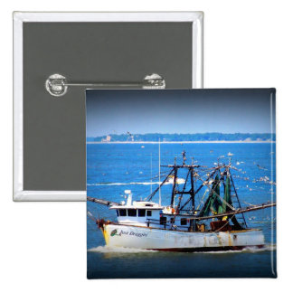 Tybee Boat Pinback Buttons