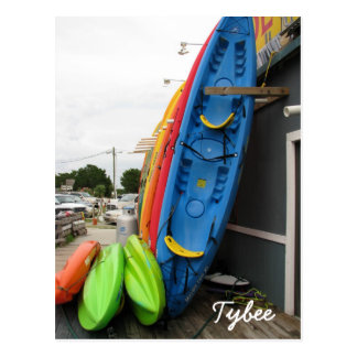Tybee Canoes Postcard