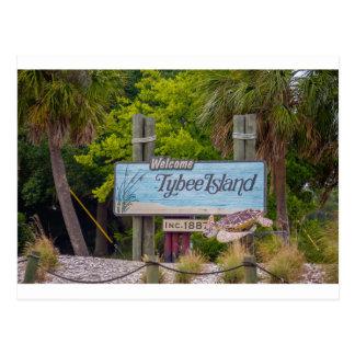 tybee island beach postcard