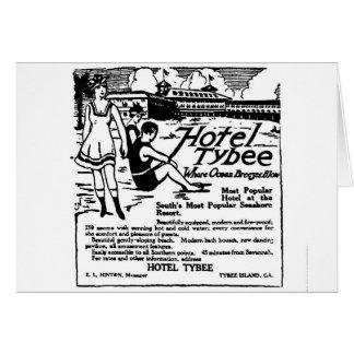 Tybee Island GA 1920 Advertisement Card