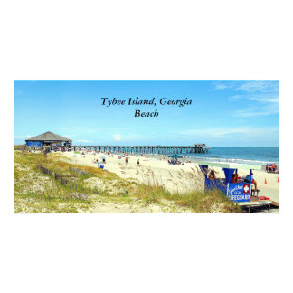 Tybee Island, Georgia Beach photo card