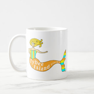 Tybee Island, Georgia Mermaid Coffee Mug