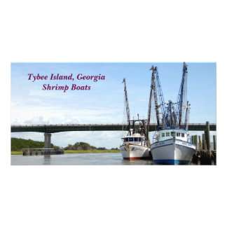 Tybee Island, Georgia Shrimp Boats photo card