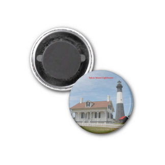 Tybee Island Lighthouse 3 Cm Round Magnet