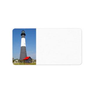 Tybee Island Lighthouse Address Label