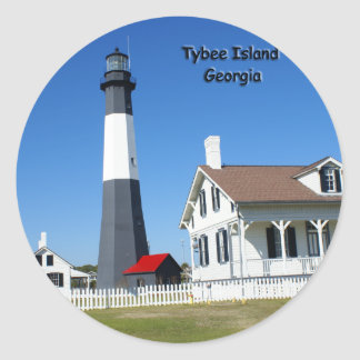 Tybee Island Lighthouse Classic Round Sticker