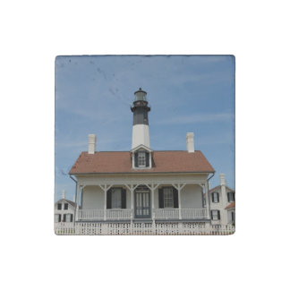 Tybee Island Lighthouse Stone Magnet