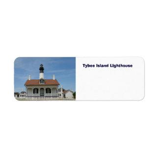 Tybee Island LIghthouse Return Address Label