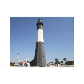 Tybee Island Lighthouse, Savannah GA Stretched Canvas Print