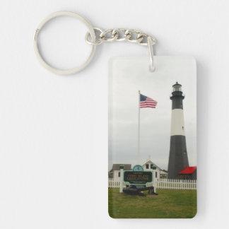 Tybee Island Lighthouse Station Single-Sided Rectangular Acrylic Key Ring
