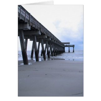 Tybee Island Pier Greeting Card