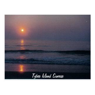 Tybee Island Sunrise Georgia Postcard