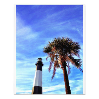 Tybee Lighthouse with Palmetto Photo Print