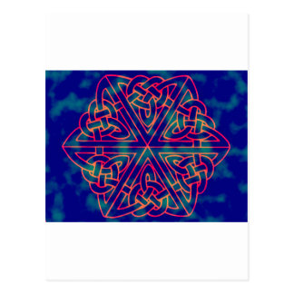 Tye-dye Celtic Knot Post Cards