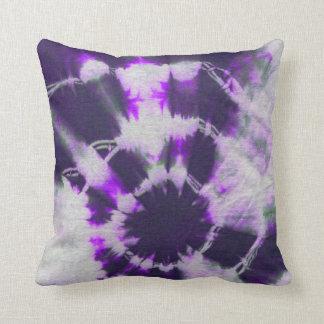Tye Dye Composition #1 by Michael Moffa Throw Cushion
