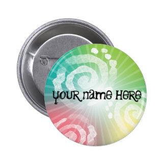 Tye-Dye Design 6 Cm Round Badge