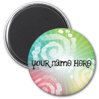 Tye-Dye Design 6 Cm Round Magnet