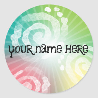 Tye-Dye Design Round Sticker